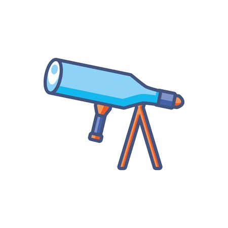 telescope observation research fill style icon Ilustrace