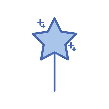 star five pointed fill style icon  イラスト・ベクター素材