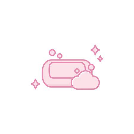Isolated soap icon fill design