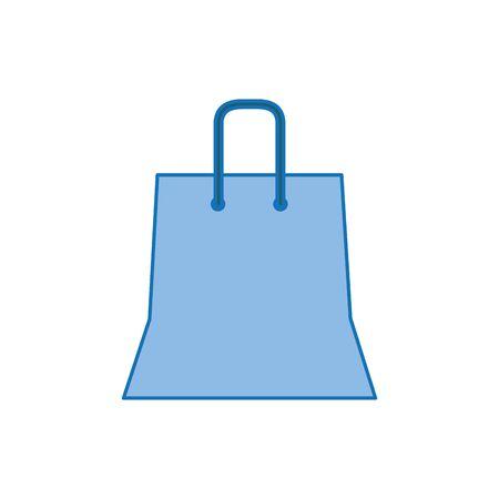 shopping bag plastic fill icon blue