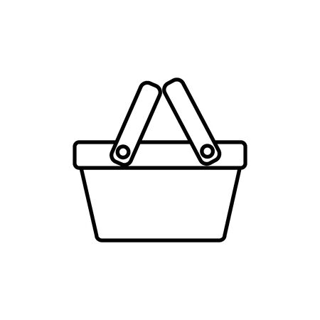 basket commerce shopping line image icon