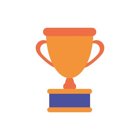 Isolated competition trophy flat design