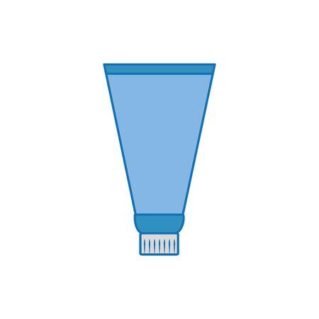 cream tube plastic fill icon blue