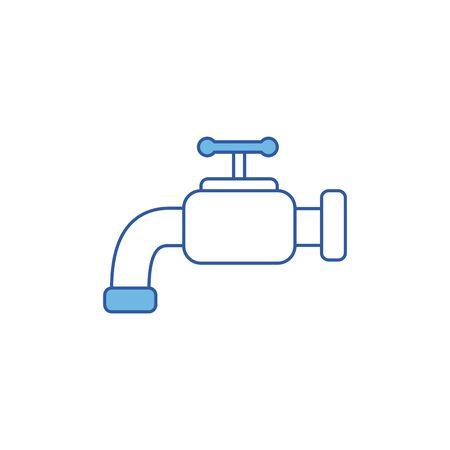 Isolated water tap icon fill design Archivio Fotografico - 133898013