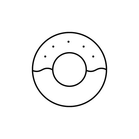 Sweet and delicious donut line design