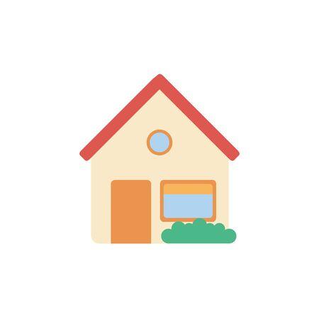 Isolated house icon flat design