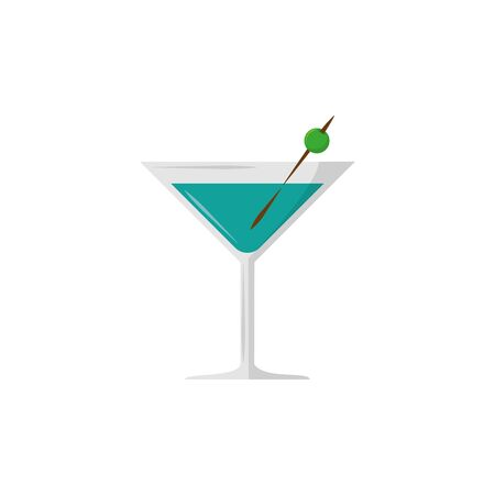 Isolated cocktail icon flat design