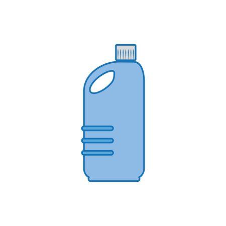 clean bottle plastic fill icon blue