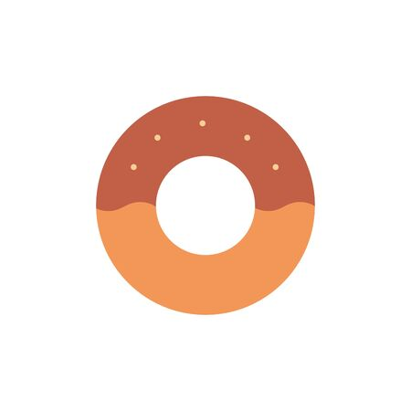 Sweet and delicious donut flat design