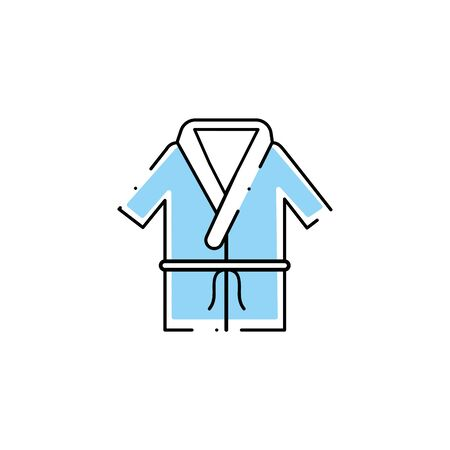 bathrobe of spa fill style icon