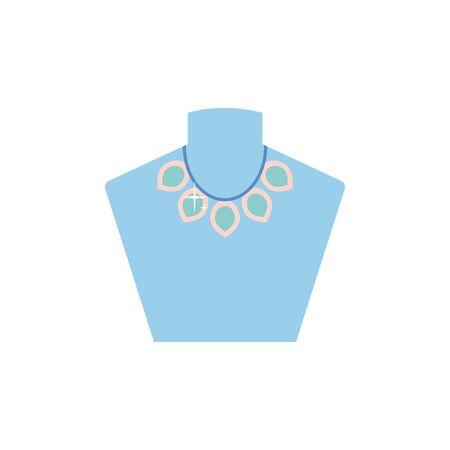 Isolated necklace icon flat design Çizim