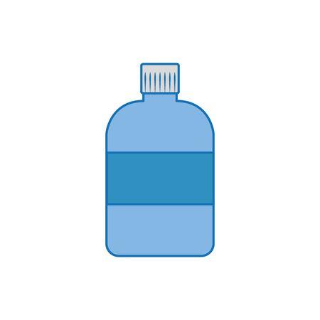 big bottle plastic fill icon blue  イラスト・ベクター素材