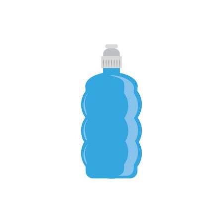 sport bottle water plastic flat icon blue Archivio Fotografico - 133898242