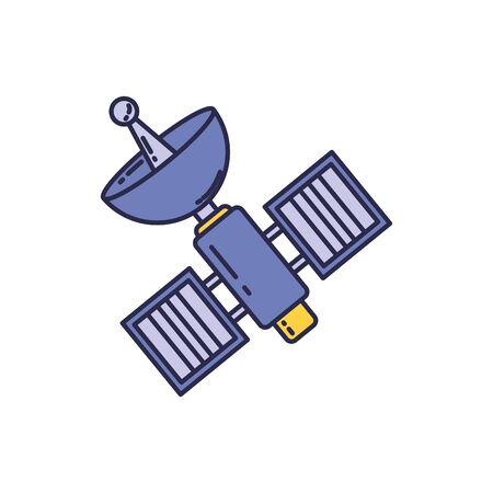 universe space satellite fill style icon