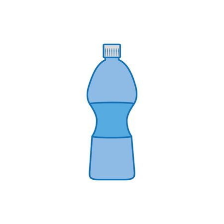 water bottle plastic fill icon blue