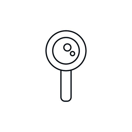 Isolated lupe icon line design