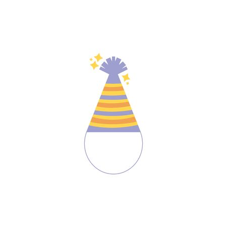 hat decoration party line fill design  イラスト・ベクター素材