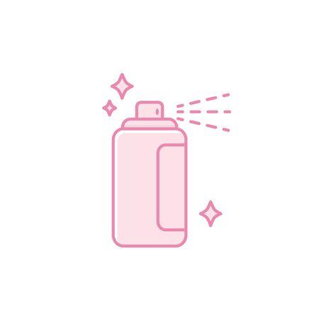 Isolated hair spray icon fill design