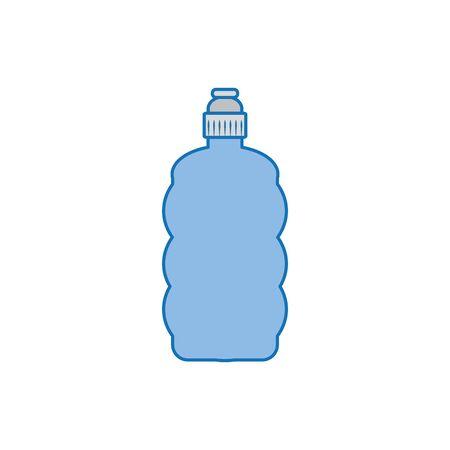 sport bottle water plastic fill icon blue Archivio Fotografico - 133898574