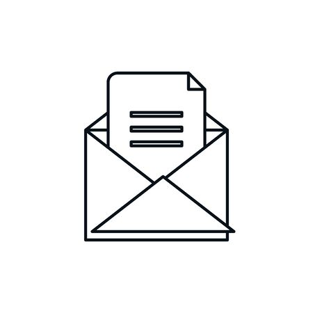 Isolated envelope message line design