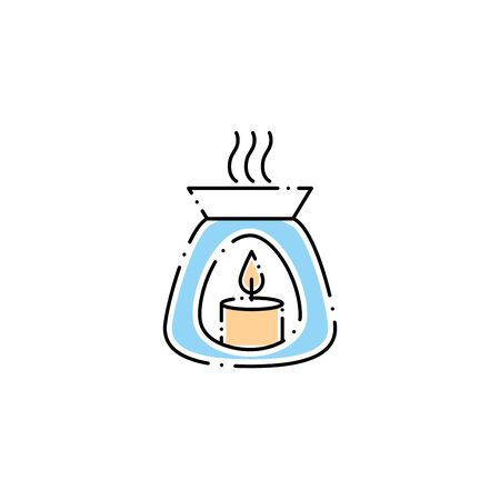 spa aromatic candle fill style icon