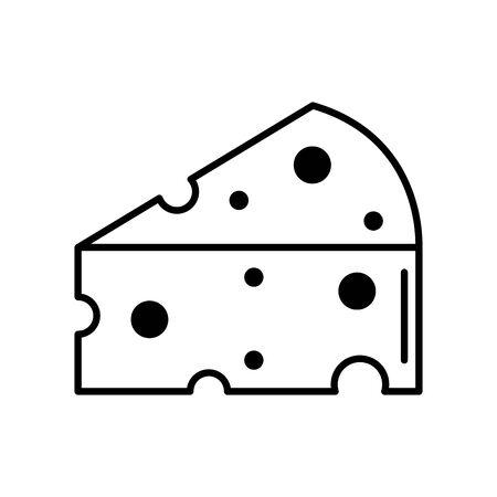Isolated cheese icon line design Ilustración de vector