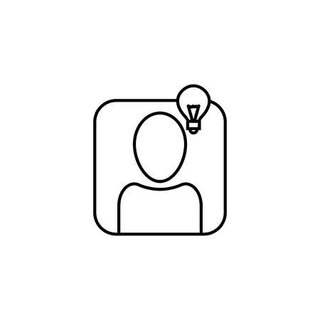 character bulb creativity idea icon line style Ilustracja