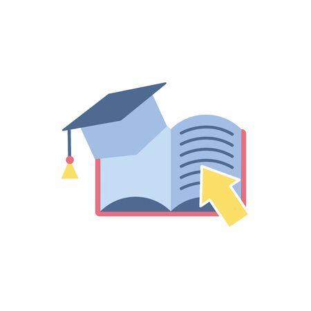 ebook school education learning flat style Ilustracja