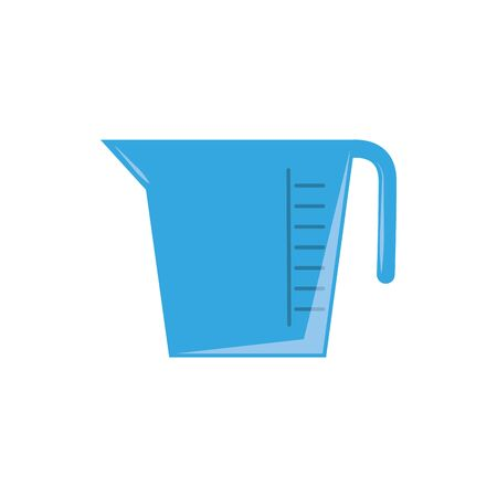 measuring cup plastic flat icon blue  イラスト・ベクター素材
