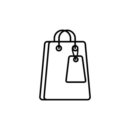 paper bag commerce shopping line image icon Illustration