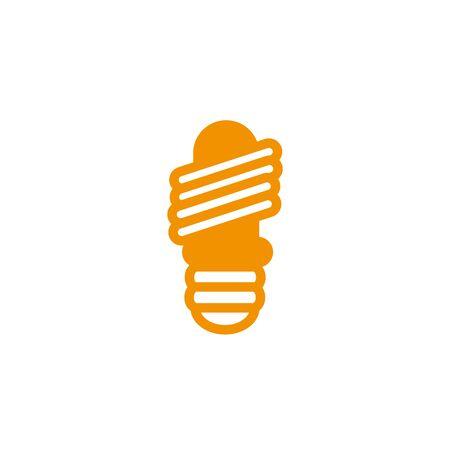 energy saving bulb electricity light yellow line style