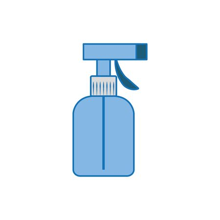 spray bottle plastic fill icon blue Standard-Bild - 133981816