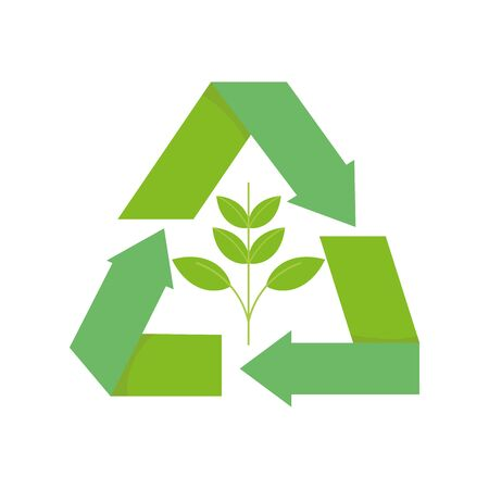 ecology renewable environment plant recycle icon 일러스트