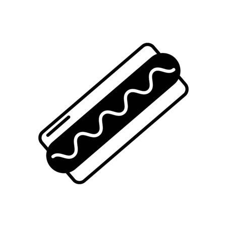Isolated hot dog icon line design