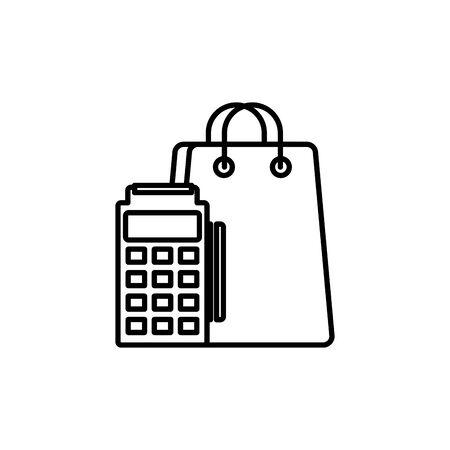 commerce shopping line image icon