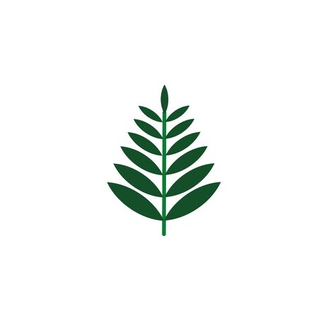 rowan branch foliage nature leaf icon flat