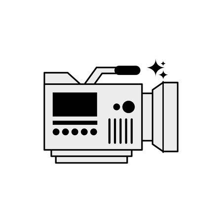 Videocamera icon design, Media film technology equipment movie digital camcorder and cinema theme Vector illustration