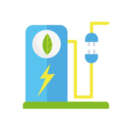 ecology renewable environment energy power plug icon