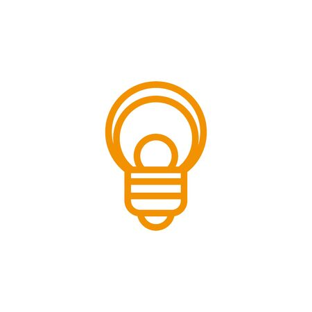 bulb energy electricity light yellow line style vector illustration