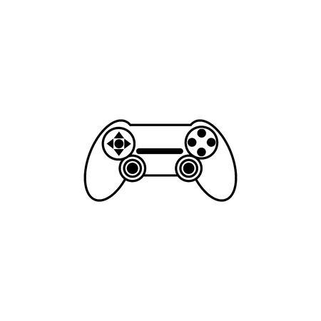 Isolated gamepad icon line design