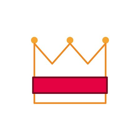 crown royal fantasy line fill style vector illustration Illustration