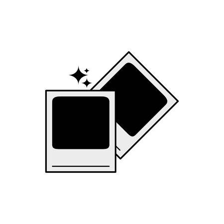 Isolated camera picture icon line design