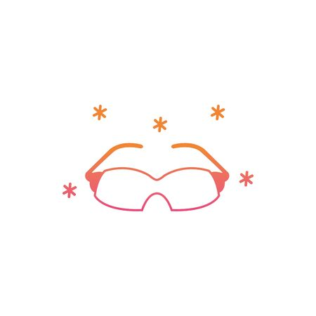 Isolated cycling glasses icon gradient design Ilustração