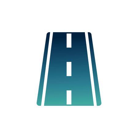 straight asphalt road gradient icon