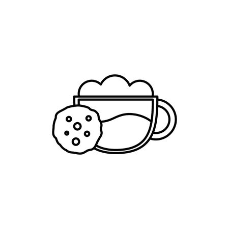 Isolated coffee cup icon line design