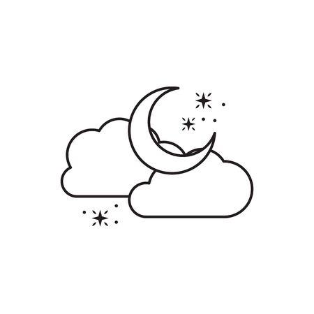 moon clouds star fantasy line design