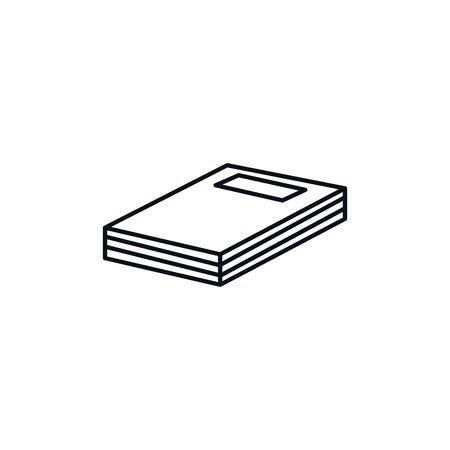 Isolated book icon line design Illustration