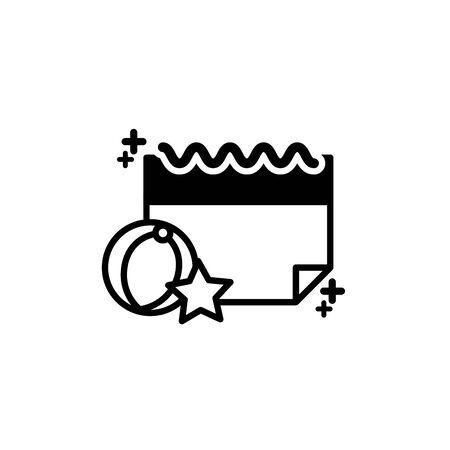 Isolated calendar icon line design Ilustrace