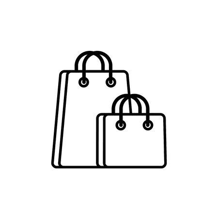 paper bags commerce shopping line image icon illustration Illustration