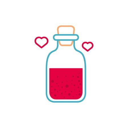 potion bottle love fantasy line fill style